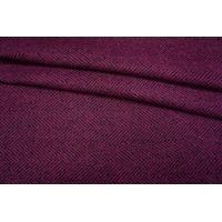 Пальтовый шерстяной твид елочка фиолетовая фуксия NST-DD2 31082067