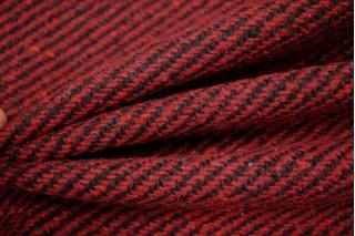 Пальтовый шерстяной твид диагональ бордовая NST-Z1 31082068