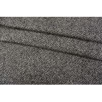 ОТРЕЗ 1,55 М Пальтовый шерстяной твид черный NST-(60)- 31082071-1