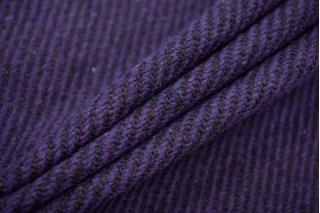 Пальтовый шерстяной твид диагональ фиолетовая NST-W1 31082073