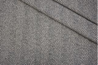 Пальтовый шерстяной твид елочка серый NST 31082074