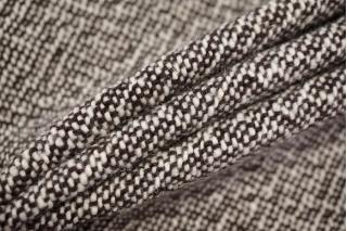 Пальтовый шерстяной твид коричневый NST-W1 31082076