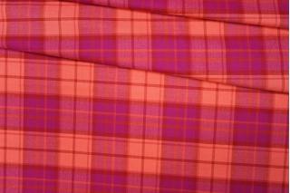 Костюмная шерсть в клетку розовая PRT-F2 13012005