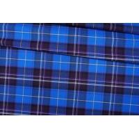ОТРЕЗ 2 М Костюмная шерсть в клетку синяя PRT-(31)- 13012007-2