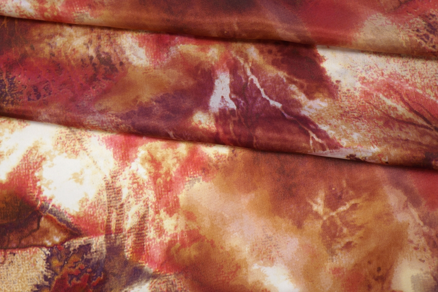 Блузочный сатин шелковый абстракция PRT-N30 11087652