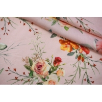 Сатин вискозный плательно-блузочный цветочный PRT-H4 28022038