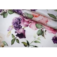 Сатин вискозный плательно-блузочный цветочный PRT-H4 28022041
