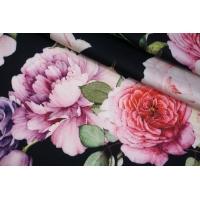 Сатин вискозный плательно-блузочный цветочный PRT-H4 28022042