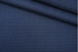 Лен тонкий костюмно-плательный в клетку BT-E6 9087969