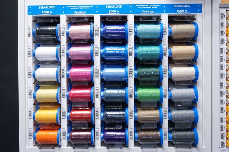 Оверлочные текстурированные нитки для эластичных тканей в ассортименте 1000 метров Mettler Seraflock 4237