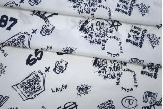 Хлопок рубашечный надписи PRT-E5 10062003