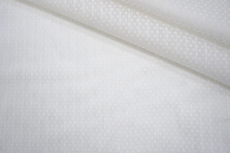 Батист хлопок с шелком белый в цветочек PRT-C3 11062039
