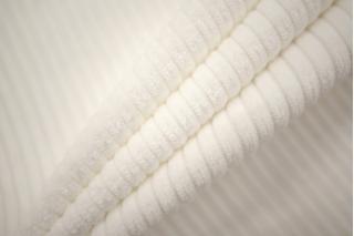 Вельвет хлопковый молочно-белый PRT-A5 15032027