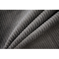 Вельвет хлопковый серый PRT-A4 15032028
