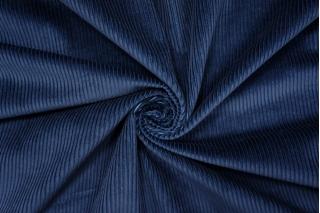 Вельвет хлопковый темно-синий PRT-A5 15032029