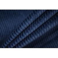 Вельвет хлопковый темно-синий PRT-A6 15032029