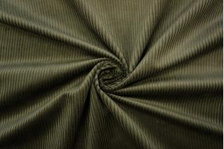 Вельвет хлопковый темно-зеленый PRT-A7 15032030