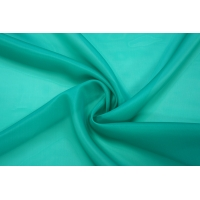 ОТРЕЗ 2,1 М Шелковая органза бирюзово-зеленая PRT-(53)- 16012013-4