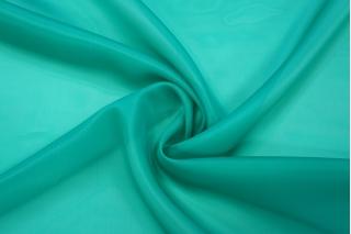 Шелковая органза бирюзово-зеленая PRT-С3 16012013