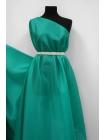 Шелковая органза бирюзово-зеленая PRT-АА5 16012013