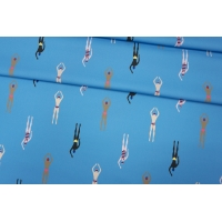 ОТРЕЗ 2,15 М Хлопок пловцы на голубом Thom Browne PRT-Е7 18012030-1