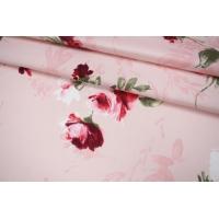 Костюмно-плательная джинса цветы PRT-B6 19012016