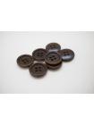 Пуговица пластик коричневая 15 мм PRT-(J)- 04032006