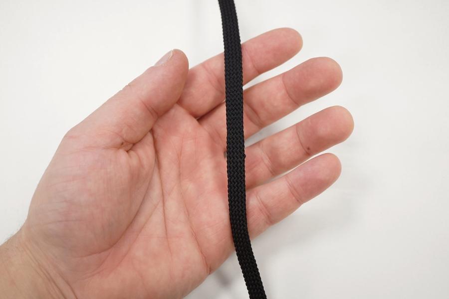 Плоский шнур черный 1 см PRT 04032021