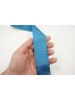 Голубая репсовая лента 4 см PRT 04032024