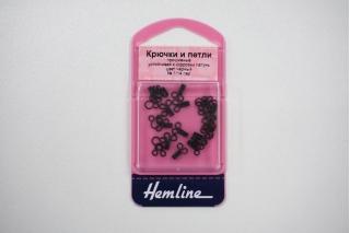 """Крючки и петли пришивные черные 14 пар """"Hemline"""" GL 401.1"""