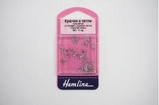 """Крючки и петли пришивные серебристые №0 14 пар """"Hemline"""" GL 400.0"""