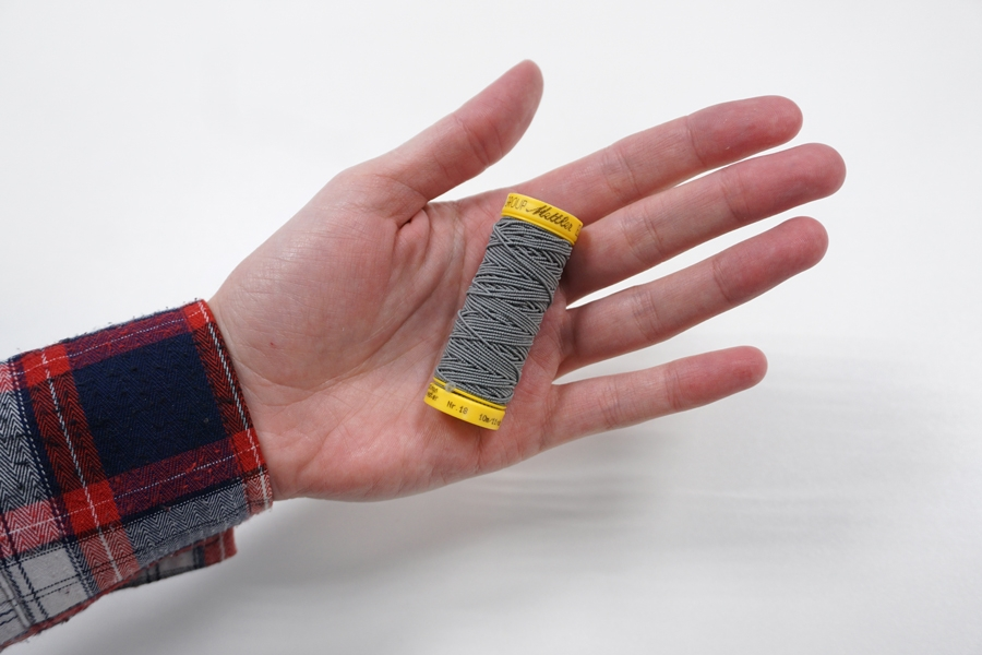 Нитка-резинка серая №0878 Amann Group Mettler 10 м 21042001