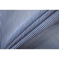 ОТРЕЗ 1,6 М Поплин рубашечный в бело-синюю полоску PRT-F3 22042003-1
