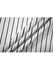ОТРЕЗ 1,35 М Хлопок рубашечный в полоску черно-белый PRT-(43)-22042024-2