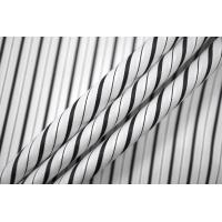 ОТРЕЗ 2,4 М Хлопок рубашечный в полоску черно-белый PRT-(42)-22042024-1