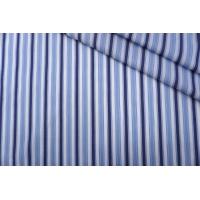 ОТРЕЗ 2,35 М Поплин рубашечный бело-голубой в полоску PRT-(43)- 25042003-1