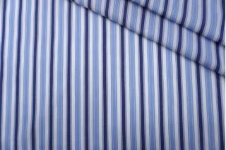 Поплин рубашечный бело-голубой в полоску PRT-F5 25042003