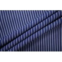 Поплин рубашечный в бело-синюю полоску PRT-F3 25042004