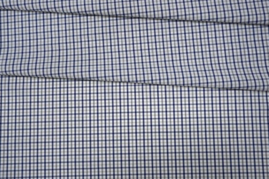 Поплин рубашечный в клетку PRT-G4 30042018