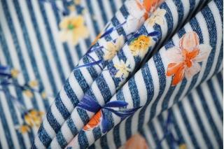 Штапель цветы на полоске LEO-H5 19022005