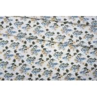 ОТРЕЗ 0,55 М Костюмно-плательная джинса пальмы LEO-(51)- 19022009-1