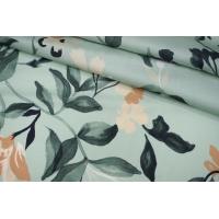 Блузочно-плательный сатин цветочный LEO 19022015