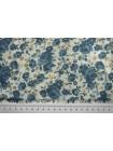 Подкладочная вискоза голубые цветы SF-B2 09122073