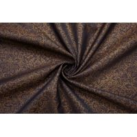 ОТРЕЗ 1,7 М Подкладочная вискоза фиолетово-бронзовая абстрактные цветы SF-(54)- 09122092-1