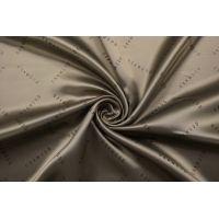ОТРЕЗ 1,6 М Подкладочная вискоза черно-бежевая Oakwood SF-(54)- 18122007-1