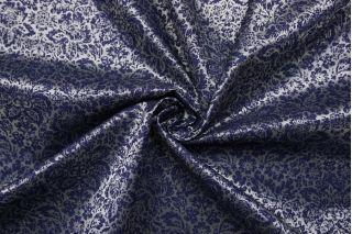 Подкладочная ткань серо-синяя абстрактные цветы SF-BB70 18122009