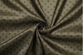 Подкладочная вискоза зеленая хаки в ромбы SF-B2 18122011