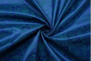 Подкладочная вискоза сине-бирюзовые цветы SF-B7 18122013