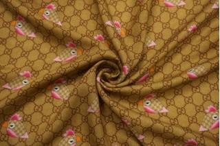 Плательный шерстяной твил Gucci попугаи NRV-E3 23122005