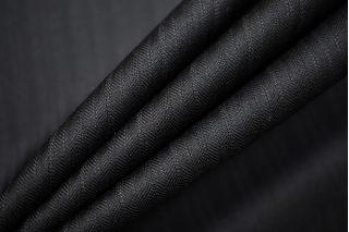Тонкая костюмно-плательная шерсть черная в полоску SR-CC40 23122015